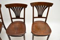 Set of 4 Antique Bentwood Cafe Dining Chairs (6 of 12)