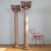 Pair of Tall Painted Victorian Columns Pillars (11 of 11)