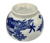 Antique Blue & White Transfer Print Pottery Bowl c.1800 (4 of 8)