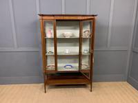 Edwardian Inlaid Mahogany & Satinwood Display Cabinet (12 of 12)