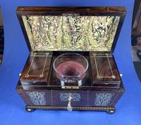 Regency Rosewood Twin Canister Tea Caddy (4 of 17)