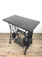 Antique Singer Sewing Machine Table with Marble Top (4 of 8)