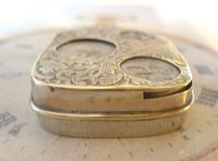 Antique Pocket Watch Chain Fob 1920s J W Benson Silver Nickel Coin Holder Fob (7 of 10)
