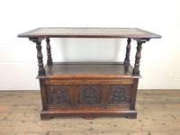 Antique Carved Oak Monk's Bench (7 of 10)
