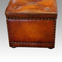 Large Victorian Leather Ottoman (8 of 9)