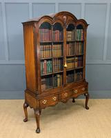 Burr Walnut Dome Topped Bookcase (16 of 18)