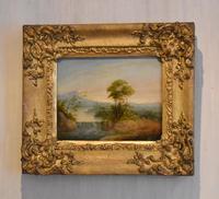 Late Georgian Landscape Oil Painting