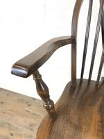 Set of Six 20th Century Wheelback Chairs including Two Carvers (14 of 20)