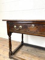 Antique Georgian Oak Side Table (6 of 10)