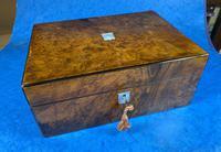 Victorian Jewellery Box in Burr Walnut (5 of 12)