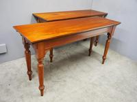 Pair of Large Victorian Mahogany Side Tables (2 of 9)