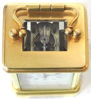 Antique Miniature 8 Day Carriage Clock by Walters & George Regent Street Rare (9 of 14)