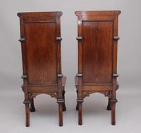 Near Pair of 19th Century Carved Oak Gothic Hall Chairs (4 of 12)
