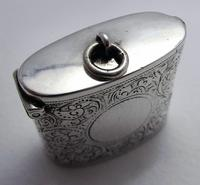 Beautiful Antique Victorian 1895 Solid Sterling Silver English CHESTER Vesta Case Match Box (9 of 9)