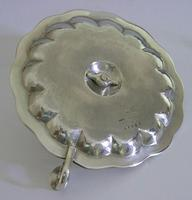 Huge Heavy Mexican Solid Sterling Silver Chamberstick Candlestick Holder c.1930 (7 of 8)