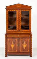 Superb Dutch Mahogany Inlaid Bookcase (4 of 9)