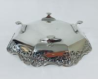 Large Antique Solid Silver Bonbon Dish (4 of 10)