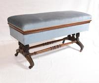 Antique French Stool Window Seat Storage Box Gillows c.1880 (4 of 11)