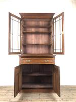 Antique 19th Century Two Stage Mahogany Bookcase (7 of 19)
