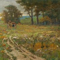 Early 20th Century German School Impressionistic Landscape with Cart (7 of 10)