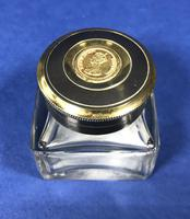 Rare Victorian Inkwell with Queen Victorian Stamp to the top