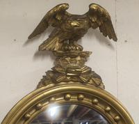 Regency Period Convex Mirror Eagle pediment (4 of 4)