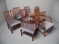 Antique Set of 8 George III Mahogany Dining Chairs (3 of 11)