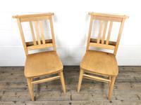 Set of Twelve Vintage Beech Chapel Chairs (4 of 15)