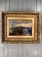 Antique Large Impressionist Landscape Oil Painting in Opulent Frame (2 of 10)
