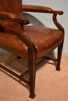 Desk Chair / Armchair Mahogany Leather 19th Century (2 of 6)