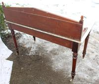 1910's Maple and Co Mahogany Marble Top Washstand with Tiles (4 of 4)