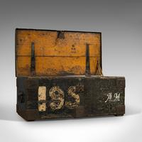 Antique Farrier's Chest, English, Pine, Iron, Tool Trunk, Edwardian c.1910 (2 of 11)