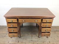 Antique Edwardian Inlaid Mahogany Desk (8 of 12)