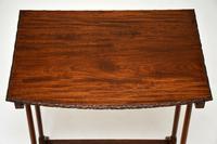 Antique Edwardian Mahogany Nest of  Tables (11 of 11)