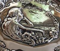 Charles Horner Pre-Raphaelite Silver Tray c1901 (4 of 4)