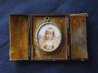 Miniature Portrait Blue Eyed Young Girl 1890 (2 of 5)