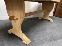 French Trestle End Refectory Farmhouse Dining Table (8 of 17)