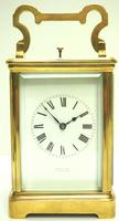 Good Antique French 8-day Repeat Carriage Clock Bevelled Case with Enamel Dial Gong Striking (2 of 15)