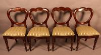 Good Set of 12 Victorian Mahogany Balloon Back Dining Chairs (4 of 8)