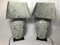 Pair Chinese Cantonese Porcelain Table Lamps With Shades Lighting Christmas Gift (43 of 51)