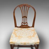 Pair of Antique Hepplewhite Revival Side Chairs, English, Seat, Victorian, 1890 (8 of 12)