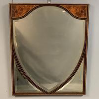 19th Century Ebonised & Burr Walnut Mirror