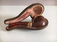 Vintage Pipe with Detachable Faux Amber Mouthpiece in Fitted Case