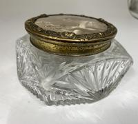 Art Nouveau French Glass Trinket Box c.1915 (4 of 7)