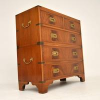 Antique Mahogany  Military Campaign Chest of Drawers (8 of 11)