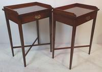 Hand Made Pair of 20th Century Walnut Side Tables (2 of 4)