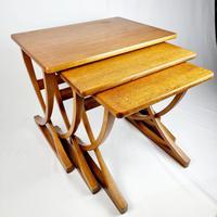 Nathan X-frame Legged Nest of Tables (3 of 11)
