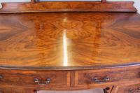 Burr Walnut Queen Anne Style Triple Mirror Dressing Table (10 of 13)