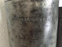 Antique Pewter French Milk / Ale / Wine Jug (4 of 5)
