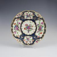 First Period Worcester Porcelain Blue Scale Junket Dish c.1770 (3 of 7)